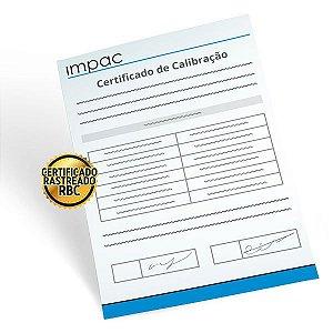 Certificado de Calibração Rastreável Medidor de pH