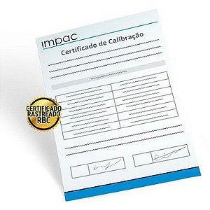 Certificado de Calibração Rastreável Termômetro de Globo