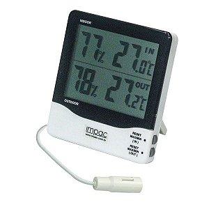 Termo Higrômetro com Sensor Externo de Temperatura e Umidade TH03B