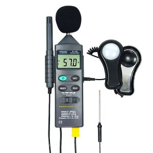 Medidor Multifuncional Decibelimetro Luxímetro Temperatura e Umidade IP-410 Impac