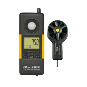 Medidor Digital 4X1 Termômetro Higrômetro Anemômetro e Luxímetro LM-8020 Híbrido