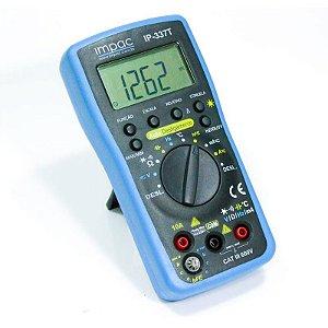 Multímetro Digital com Capacímetro e Sensor de Temperatura IP-337 Impac