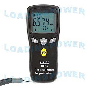 Tabela Eletrônica de Pressão - Temperatura para Fluídos Refrigerantes DT-15