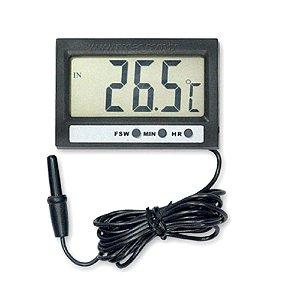 Medidor de Temperatura Digital com Sensor Externo e Relógio ST-2