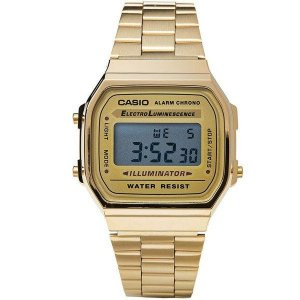 aef714b850b Relógio Casio Vintage Digital - A168WG-9WDF Dourado