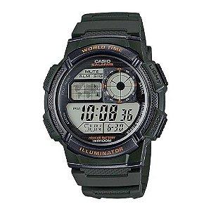 7c064e8754e6 449df9d08a6 Relógio Masculino Casio Digital Verde Militar AE-1000W-3AVDF ...