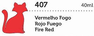 VERNIZ VITRAL GATO PRETO VERMELHO FOGO 40ML