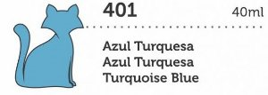 VERNIZ VITRAL GATO PRETO AZUL TURQUESA 40ML