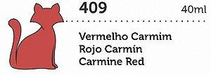 VERNIZ VITRAL GATO PRETO VERMELHO CARMIM 40ML