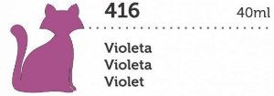 VERNIZ VITRAL GATO PRETO VIOLETA 40ML