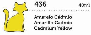 VERNIZ VITRAL GATO PRETO AMARELO CADMIO 40ML