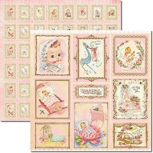 SCRAPBOOK ARTE FACIL 30,5X30,5 BABY GIRL