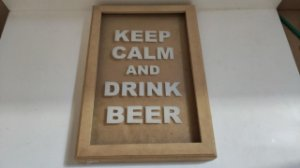 COFRE VIDRO DRINK BEER 34X23