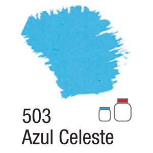 TINTA ACRÍLICA FOSCA 250ML 503 AZUL CELESTE ACRILEX