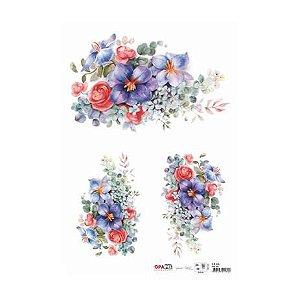 OPAPEL 30X45 - FLOR AZUL I
