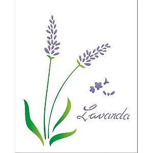 STENCIL 20X25 - FLOR LAVANDA