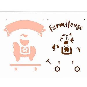 STENCIL 15X20 - FARMHOUSE BICHOS