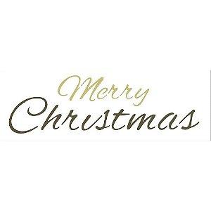 STENCIL 10X30 - FRASE MERRY CHRISTMAS II