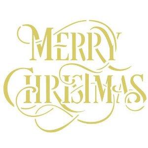 STENCIL 20X25 - FRASE MERRY CHRISTMAS