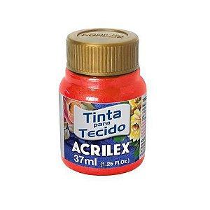 TINTA PARA TECIDO METALICA 37ML VERMELHO ACRILEX