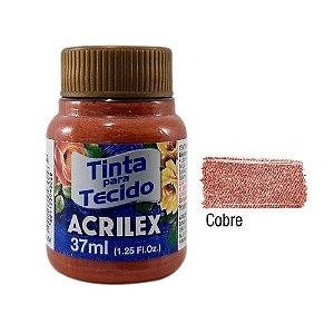 TINTA PARA TECIDO METALICA 37ML COBRE ACRILEX