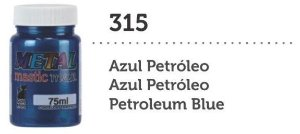 METAL MASTIC 75 ML AZUL PETROLEO MEGA GATO PRETO