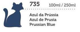 TINTA MEGA PVA FOSCA 250ML AZUL DA PRUSSIA GATO PRETO