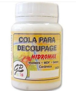COLA PARA DECOUPAGE HIDROMAX MADEIRA 250G GATO PRETO