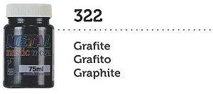 METAL MASTIC 75 ML GRAFITE MEGA GATO PRETO