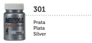 METAL MASTIC 75 ML PRATA MEGA GATO PRETO
