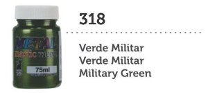 METAL MASTIC 75 ML VERDE MILITAR MEGA GATO PRETO