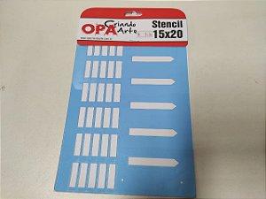 STENCIL OPA 15X20 COUNTRY BRASIL CERCA