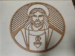 MANDALA SAGRADO CORACAO DE JESUS (ALTURA 40CM)