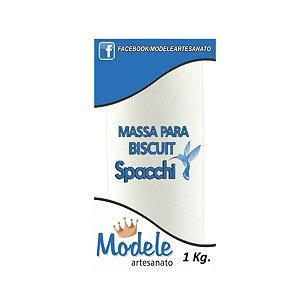 MASSA PARA BISCUIT BRANCO COM CLAREADOR 1KG