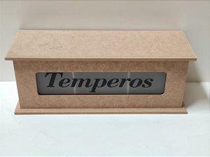 PORTA TEMPERO JATEADO 28X10X10