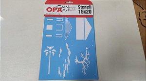 STENCIL OPA 15X20 COUNTRY BRASIL CASA I