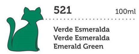 TINTA ACRÍLICA DECORATIVA 100ML VERDE ESMERALDA GATO PRETO