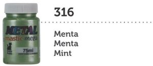METAL MASTIC 75 ML MENTA MEGA GARO PRETO