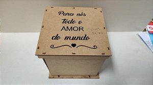 CAIXA EXPLOSÃO PARA NÓS TODO O AMOR DO MUNDO 17X17X16