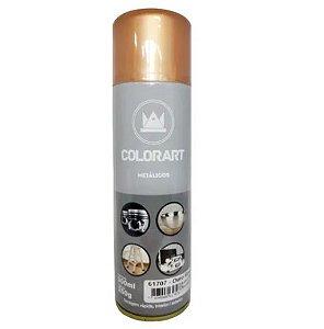 TINTA SPRAY METALICOS OURO ROSE COLORART 300ML/250G