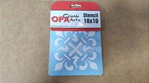 STENCIL 10X10 - BRASÃO
