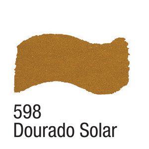 TINTA METAL COLORS 60ML ACRILEX DOURADO SOLAR