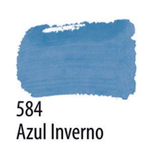 TINTA PVA FOSCA 100ML 584 AZUL INVERNO ACRILEX
