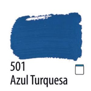 TINTA PVA FOSCA 100ML 501 AZUL TURQUESA ACRILEX