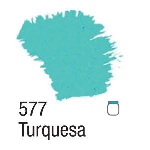 TINTA ACRÍLICA FOSCA 60ML 577 TURQUESA ACRILEX