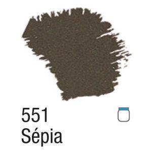 TINTA ACRÍLICA FOSCA 60ML 551 SEPIA ACRILEX