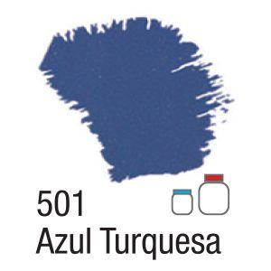 TINTA ACRÍLICA FOSCA 60ML 501 AZUL TURQUESA ACRILEX