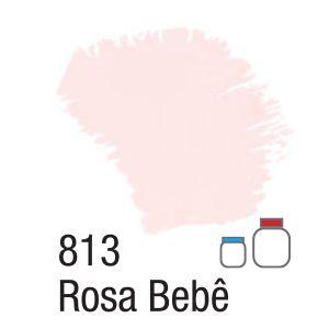 TINTA ACRÍLICA FOSCA 60ML 813 ROSA BEBE ACRILEX