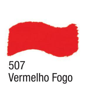 TINTA ACRÍLICA BRILHANTE 100ML 507 VERMELHO FOGO ACRILEX