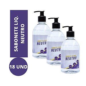 Sabonete Líquido Neutro kit 18und 500ml Atacado